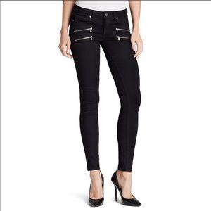 Paige Edgemont black moto skinny jeans